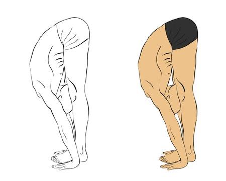 man meditating: man practicing yoga in position