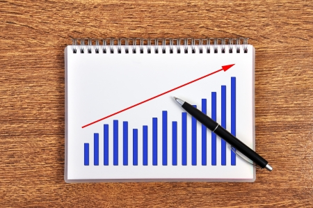 scheme growth profits in notebook Stock Photo - 18852743