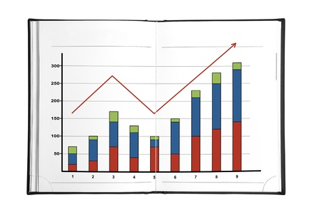 drawing chart of growth in the book photo