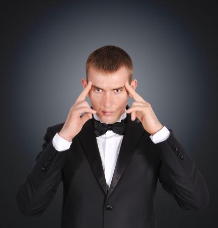 businessman businessman on a black background Stock Photo - 20660234