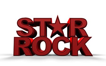 tex: red tex rock star, 3d render Stock Photo