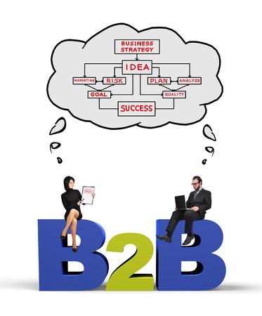 ビジネスマンや実業家のビジネスの概念で考えて
