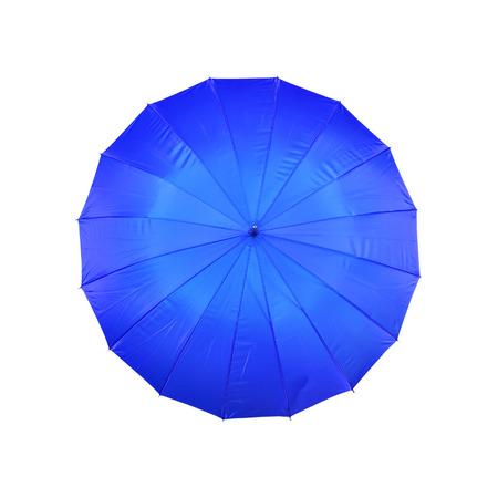 blue umbrella on a white background photo