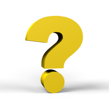 gold question mark symbol  on a white background photo