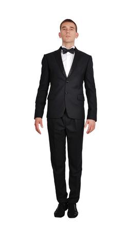 エレガントな黒のスーツでスタイリッシュなビジネスマン 写真素材