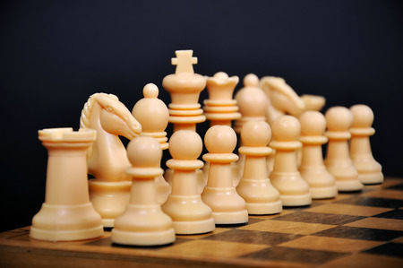 White Chess Figure on a black background photo