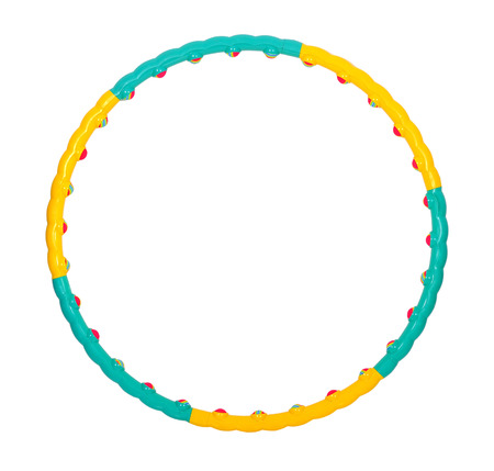 color hula hoop on a white background photo
