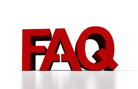 frequently asked question: frequently asked question 3d render, close up