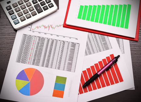 summarize: colorful graphs, charts, marketing research and business annual report