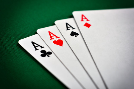 ace of spades: Four aces, including spades, hearts, clubs and diamonds