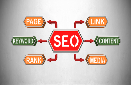 page rank: SEO, Search Engine Optimization concept, 3d render