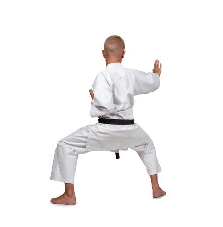 karate boy: karate boy isolated on white background