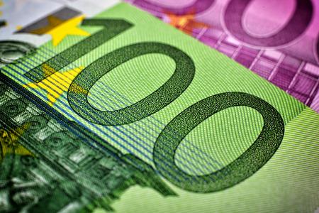 one hundred euro banknote: one hundred euro banknote, extra close up Stock Photo