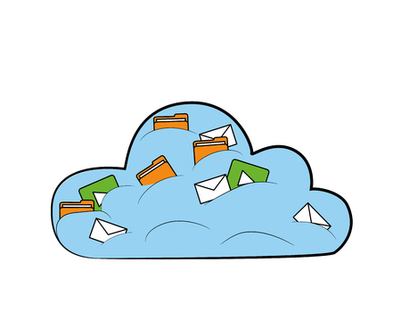 Cloud for information storage icon design. Illustration