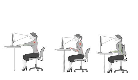 Correct sitting at a desk