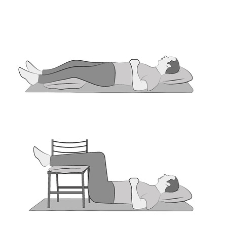 Lying postures illustration. Illustration
