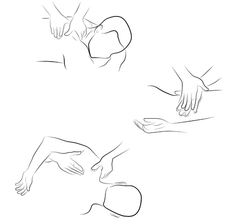 massage techniques. correct execution of the massage.