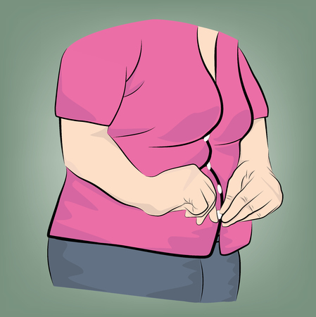 overweight. the problem of obesity. losing weight. vector illustration.