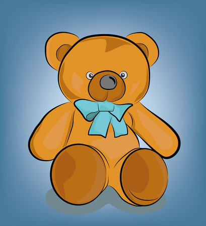 drawing of a children's teddy bear. vector illustration. Banque d'images - 114251620