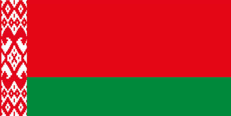 Vector Belarus flag, Belarus flag illustration. Flag of Belarus Republic closeup.