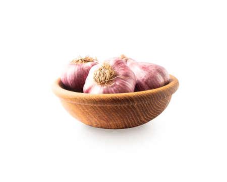 Garlic isolated on white background. Garlic Isolated on white background . Garlic press and garlic on white background.