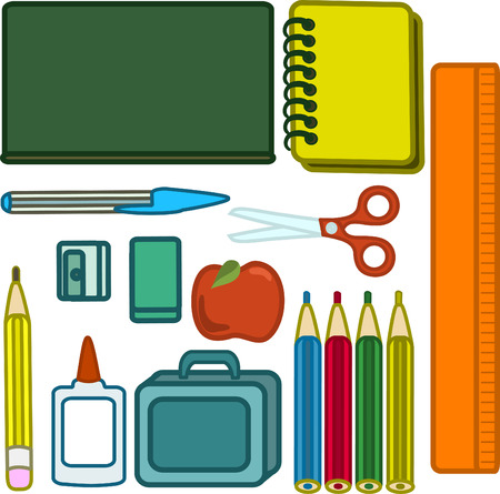 pencil sharpener: Back to School Illustration