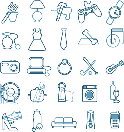 e store: collection of department store menu icons