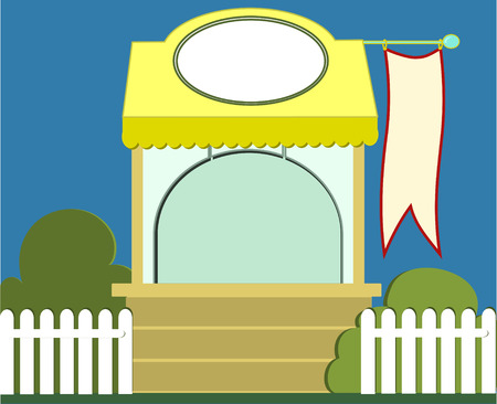 Small retail stand on a park,kiosk Vector