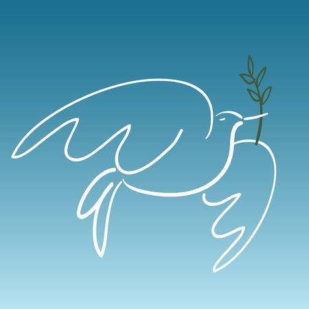 dove of peace:  white  peace dove caring olive branch Stock Photo