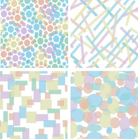 Vier nahtlose abstrakt Spaß Muster  Vektorgrafik