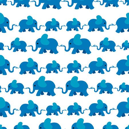 Patrón transparente de elefante