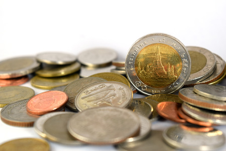 Thai baht coins.