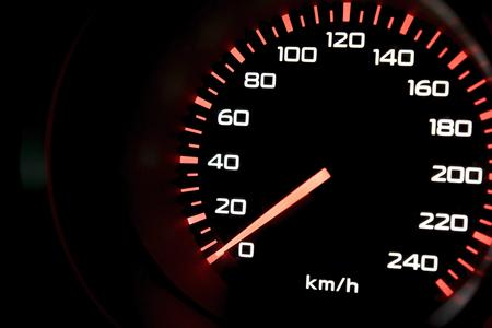 Red light of mile gauge.