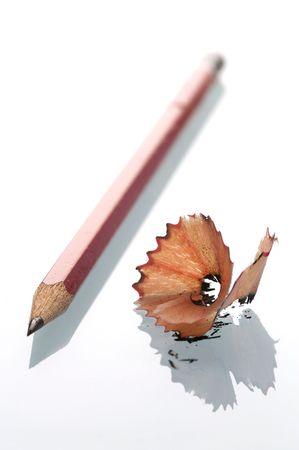 sharpenings: Lead Pencil Sharpenings Stock Photo