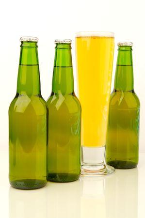 lined up: Bottles Of Beer
