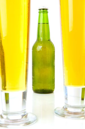 lined up: Cold Beer