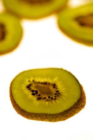 centres: Kiwifruit Stock Photo