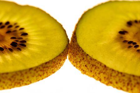 kiwi fruta: Los kiwis  Foto de archivo