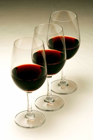 redwine: Glasses of red wine