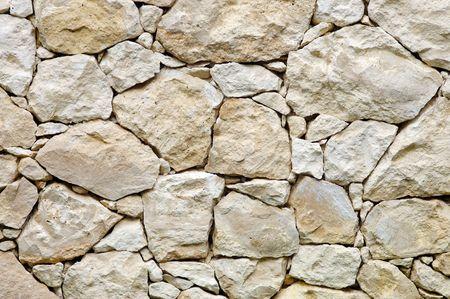 Muro de piedra caliza