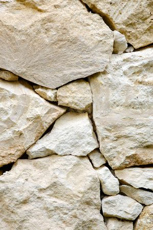 masonary: Limestone Rock Wall Stock Photo
