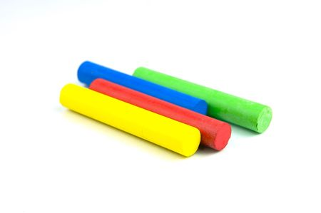 Oil pastels/crayons isolated against a white background Stock Photo - 3554712
