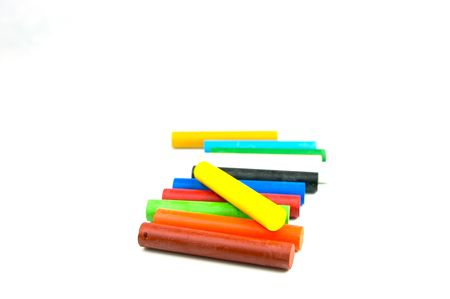 Oil pastels/crayons isolated against a white background Stock Photo - 3554718