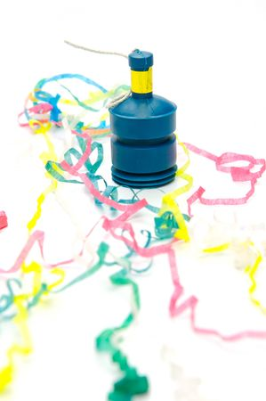 party poppers: Party poppers isolated against a white background