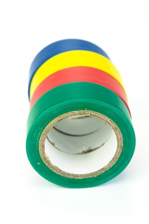 Electrical tape isolated against a white background Stock Photo - 4192403