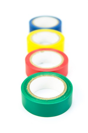 Electrical tape isolated against a white background Stock Photo - 4192396