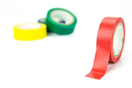 Electrical tape isolated against a white background Stock Photo - 4192383