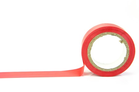 Electrical tape isolated against a white background Stock Photo - 4192398
