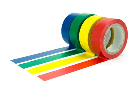 Electrical tape isolated against a white background Stock Photo - 4235019