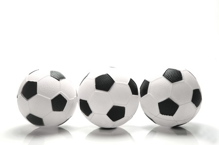 soccer pitch: A soccer ball isolated against a white background